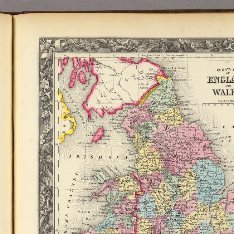 Map Of England In 1500.County Map Of England And Wales David Rumsey Historical Map