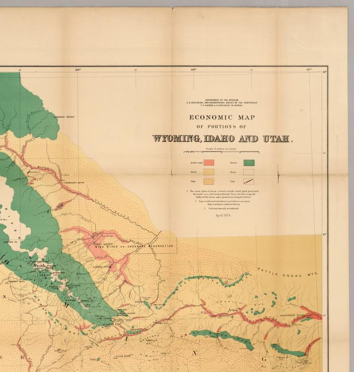 Economic Map Of Portions Of Wyoming Idaho And Utah David Rumsey
