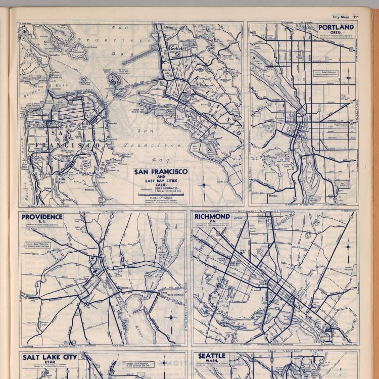 City Maps San Francisco And East Bay Cities California