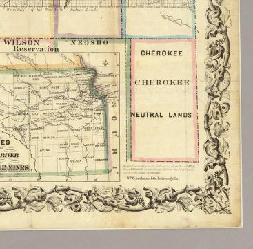 Kansas And The Gold Mines. - David Rumsey Historical Map ... on road map of kansas, antique map of kansas, large map of kansas, physical map of kansas, radon map of kansas, blank map of kansas,