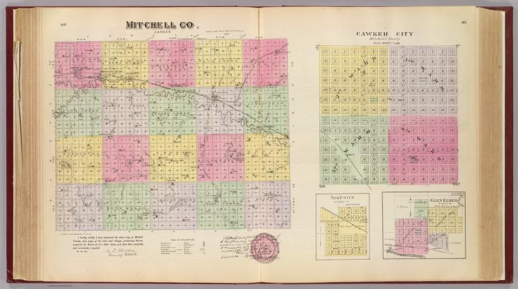 Mitchell Co., er City, Simpson, Glen Elder, Kansas ... on