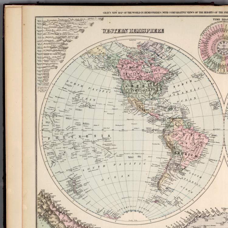 Eastern Hemisphere. Western Hemisphere. - David Rumsey ...