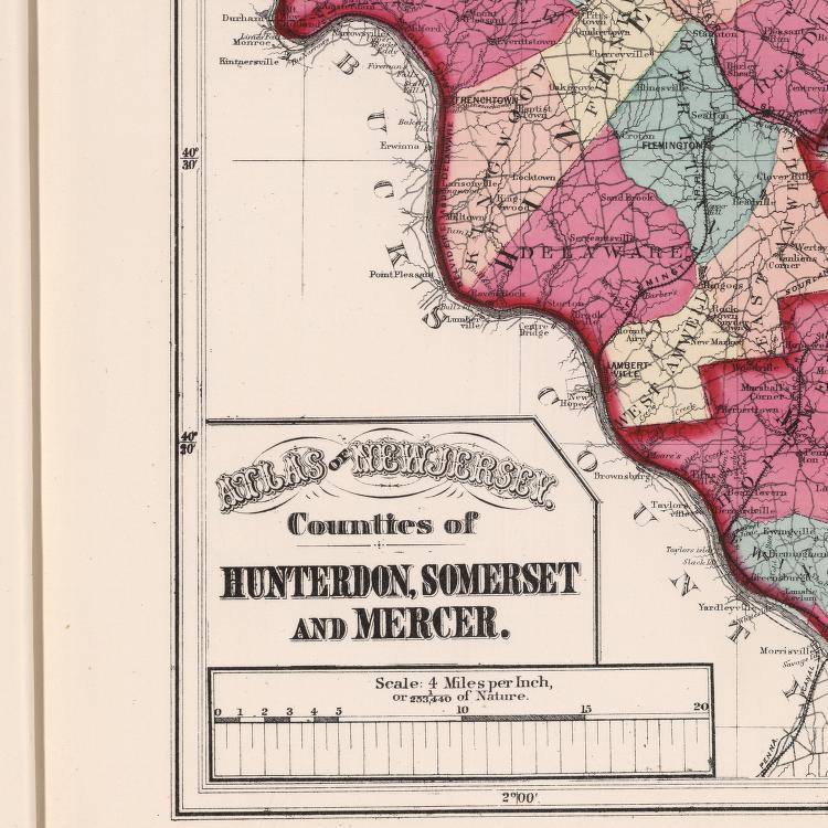 Atlas of New Jersey, Counties of Hunterdon, Somerset and ...