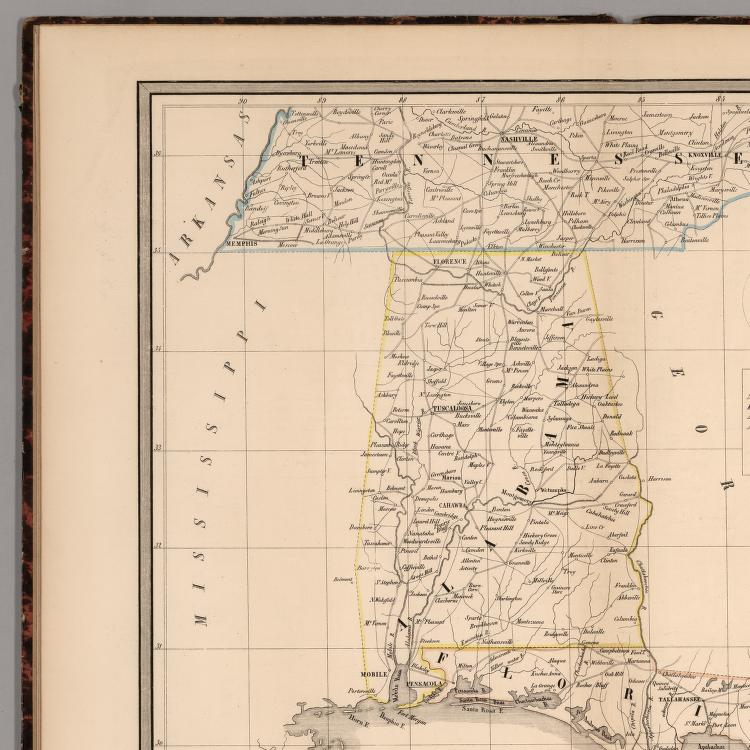 Tennessee, Alabama en Florida. - David Rumsey Historical Map ... on ky and tn, map of alabama and ms, map of kentucky and tenn border, map of florida georgia and tennessee, 1940 map nashville tn, map of carolina's and georgia, map florida to tennessee, map of alabama and ge, map of florida alabama border, map of alabama and surrounding states, map of north alabama and tennessee, map of tennessee alabama border, map of haleyville alabama,